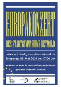 Plakat Europakonzert Stadtgymnasium